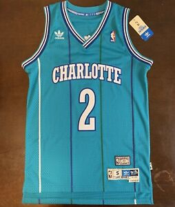 Details about Adidas HWC Throwback NBA Charlotte Hornets Larry Johnson Basketball Jersey