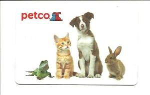 Details about Petco Gift Card No $ Value Collectible Dog Cat Rabbit Lizard