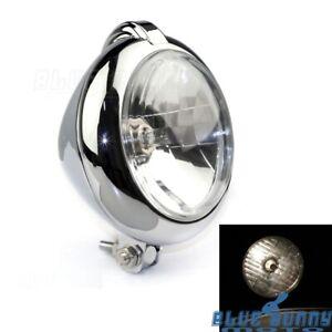 Bates-Style-5-1-4-in-Bottom-Mount-Headlight-Head-Lamp-For-Harley-Chopper-Triumph