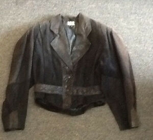 Ladies small o Vintage Jacket I u Leather YOqcE1zdW