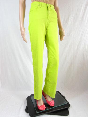 Design Sz 26 At40 Lux Versace Green Waist Classic 90s Vtg High Bukser Womens 6fPZq