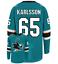 Erik-Karlsson-San-Jose-Sharks-65-stitched-jersey-men-039-s-player-game thumbnail 9