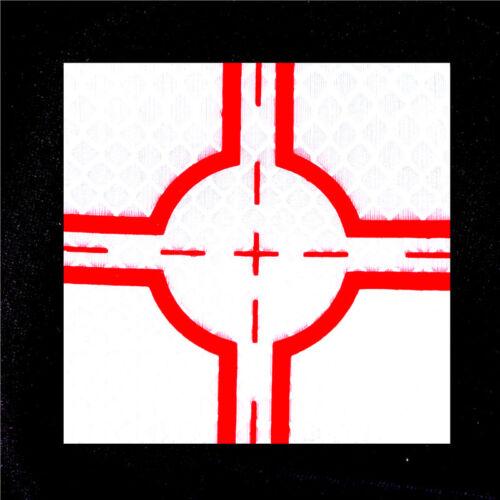 Blanc Super réflexion Plaque Croix Rouge Ruban Réfléchissant cible pour station totale