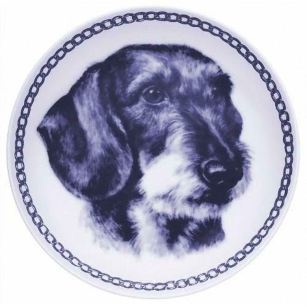 Dachshund - Wirehairot - Dog Plate made in Denmark from the finest European Porc