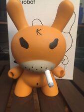 Kidrobot Frank Kozik Smorkin Hate Dunny 8 Inch Orange CHASE Very Rare 2005