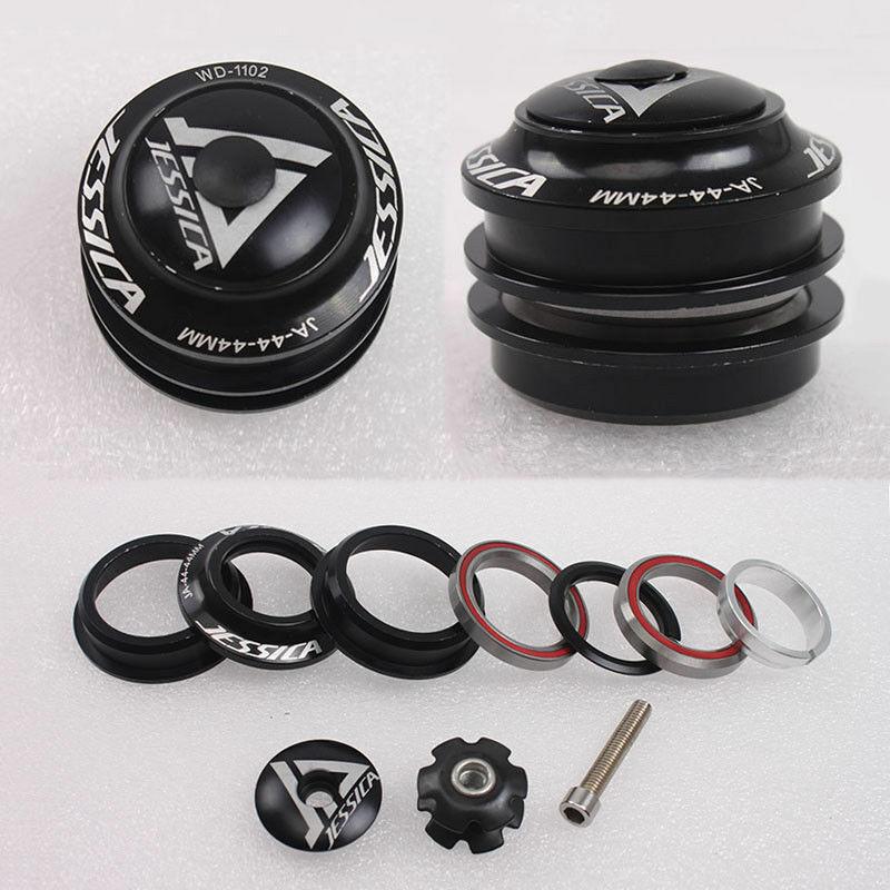Details about  /Aluminum Alloy 1-1//8 Bike Threadless Headset 44mm Fork Steerer Parts Straight