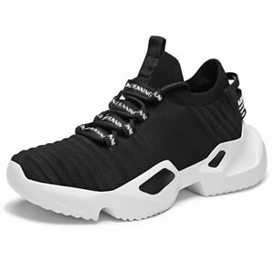 Mens Running Shoes Outdoor Thick Heel