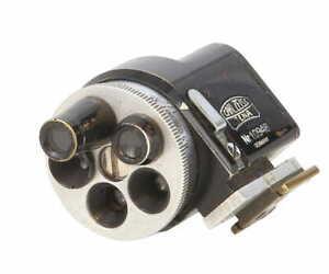 Zeiss Jena 2.8, 3.5, 5, 8.5 13.5cm Turret Finder, Germany, Black Enamel BG