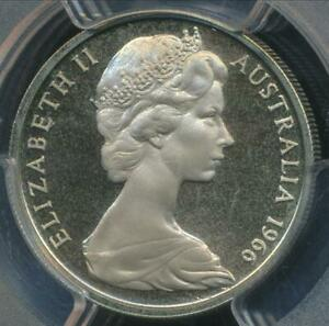 Australia-1966-Ten-Cents-10c-Elizabeth-II-PCGS-PR66DCAM-Proof