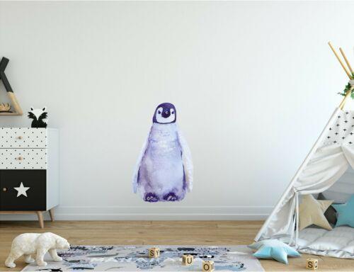 Baby Penguin Wall Decal Arctic Ocean Sea Animal Watercolor Wall Sticker Decor