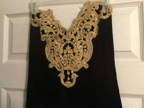 Evening Gown - Black Velvet, Strapless w/Velvet Ev