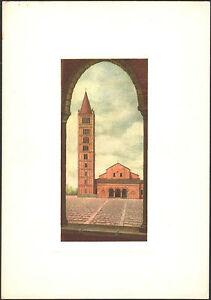 CARTOLINA-CAMPANILI-D-039-ITALIA-di-DANDOLO-BELLINI-POMPOSA-ABBAZIA-1960