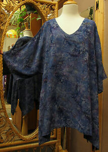 New-Moon-039-s-Own-Crinkle-Rayon-Over-Sized-Artist-Kimono-in-8-Different-Batiks
