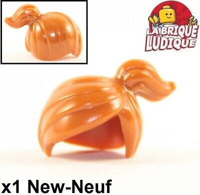 Lego 1x Minifig cheveux hair queue cheval couette Ponytail dark orange 15427 NEW