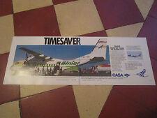 4/1989 PUB AVION CASA CN-235 AIRCRAFT BINTER CANARIAS CANARIES ORIGINAL AD