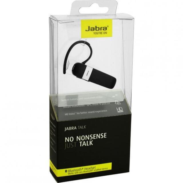 ORIGINALE Jabra Talk Auricolare Bluetooth Universale Vivavoce Wireless-Nero