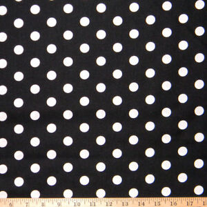 """crepe Sold by the 1//2 YARD POLKA DOT fabric colorful dots on white 60/"""" wide"""