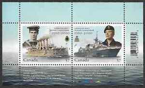 Canada-Stamps-Souvenir-Sheet-of-2-Canadian-Navy-Centennial-2384-MNH