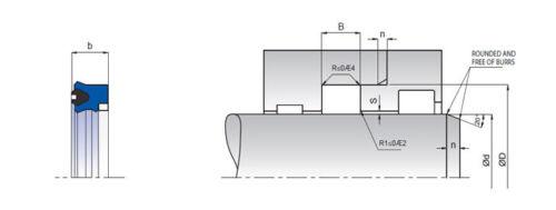 choose dimensions Rod Sealing U-ring K31 PU//NBR//POM ID 152mm-340mm pack