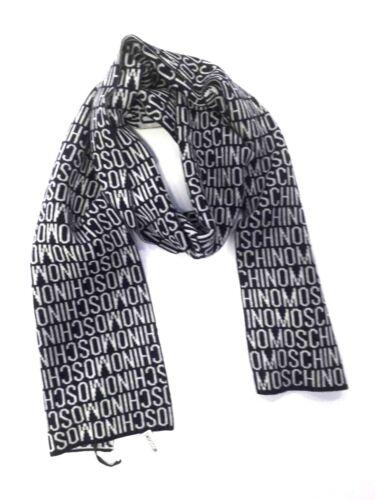 Sciarpa Moschino uomo REVERSE art.50032 lana blu//grigio NUOVA COLLEZIONE A//I