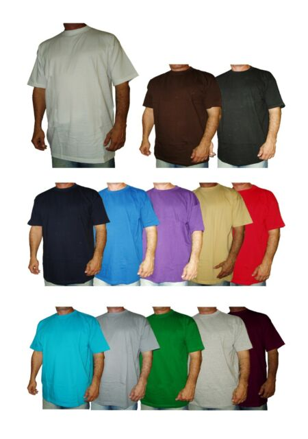 Big and Tall Tees Crew Neck Basic T-Shirts Premium Quality 5X 6X 7X 8X 10X