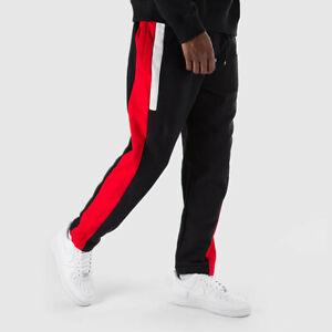 610f5b2ae Nike NSW Re-Issue Fleece Pants Men's Joggers AQ2100-010 Black Red sz ...