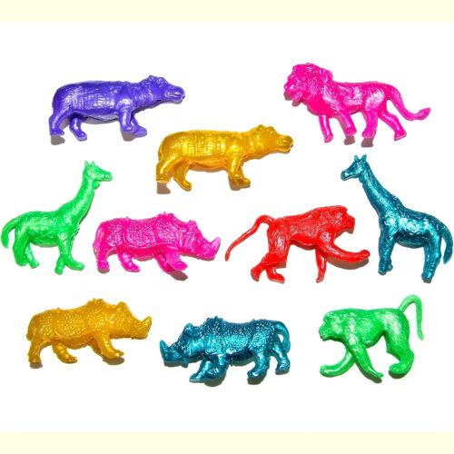 Assortiment de 10 Extensible Jungle Animal Jouets