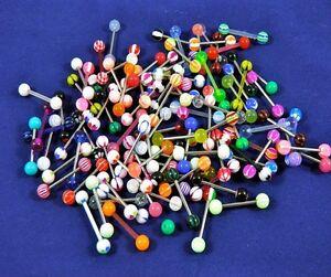 20x-Tongue-Nipple-Bars-10-Steel-amp-10-Acrylic-Body-Piercing-Jewellery-Tapers