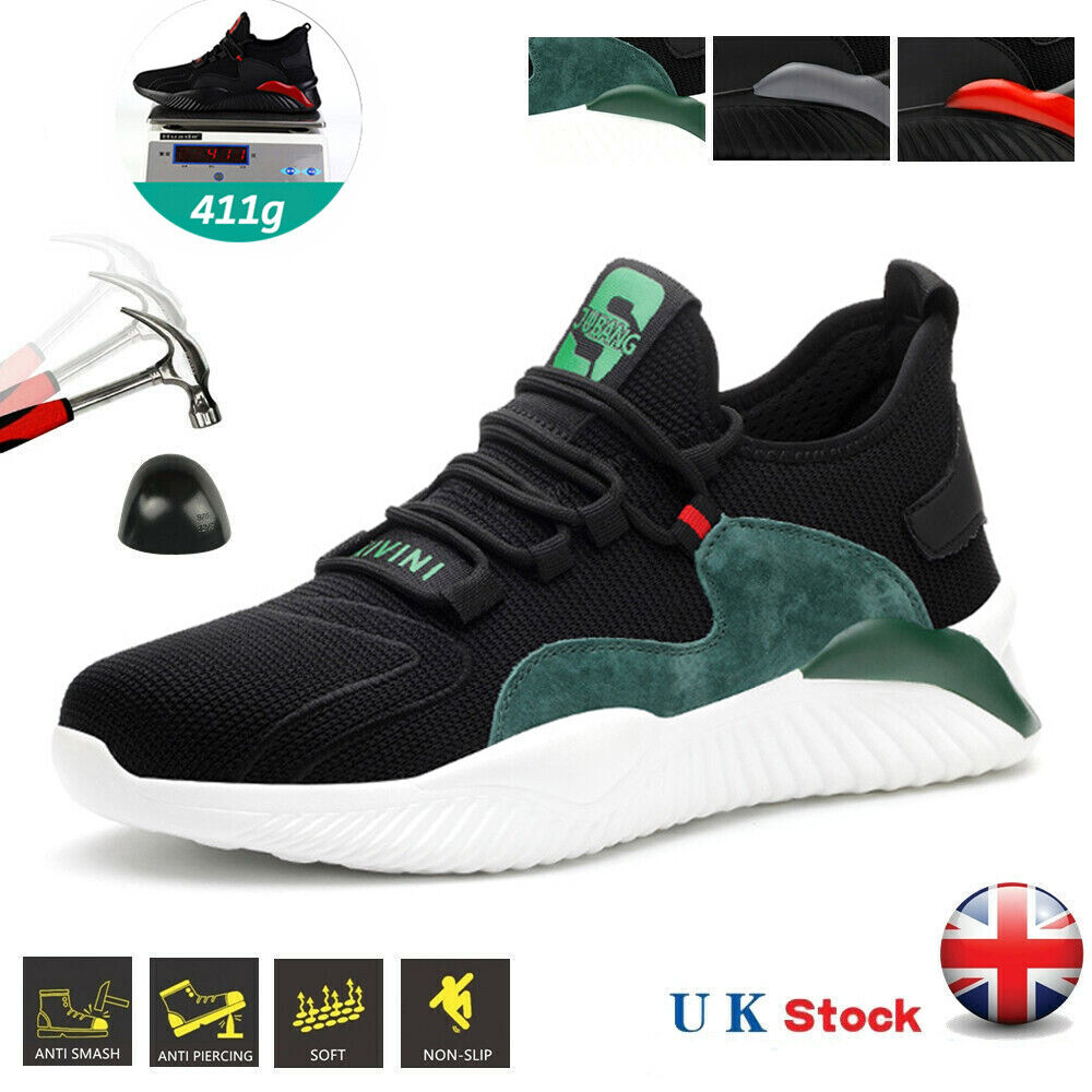 Men's Safety Trainers Steel Toe Cap Work Boots Sport Lightweight Safety Shoes UK