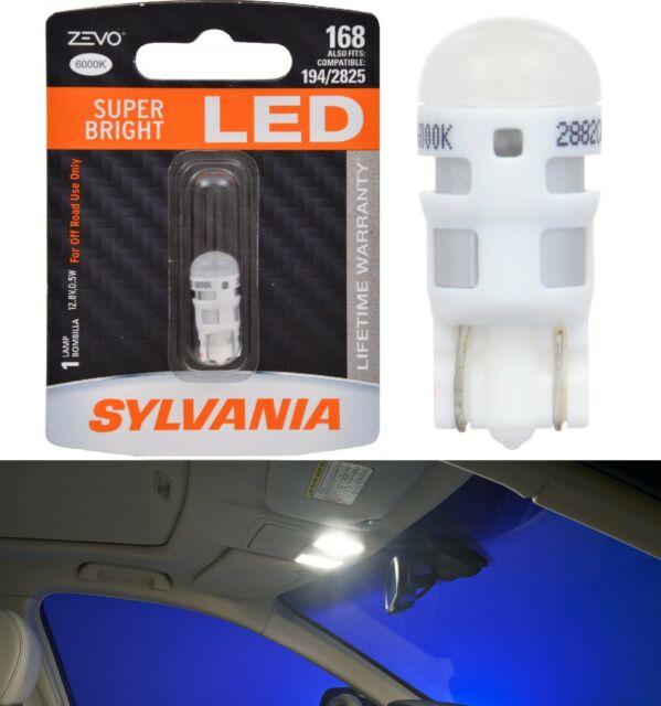 Sylvania ZEVO LED light 168 White 6000K One Bulb Interior Map Upgrade Stock Fit