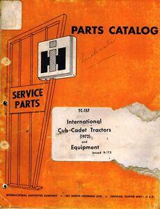 Vintage Cub Cadet Parts