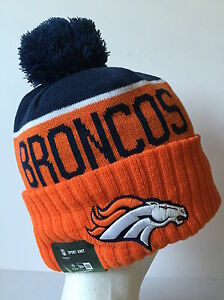 2015 NFL Denver Broncos NEW ERA SIDELINE ON FIELD SPORT KNIT Cap ... 8587ee6390