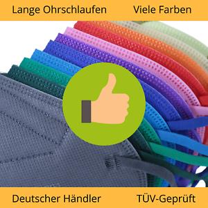 ✅10 Stück CE Zertifiziert FFP2 Maske Bunt DEUTSCHER HÄNDLER Atemschutz ✅  TÜV