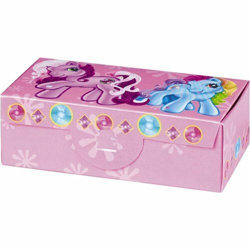 6 MY LITTLE PONY FAVOR BOXES ~ Vintage Birthday Party Supplies Treat Loot MLP