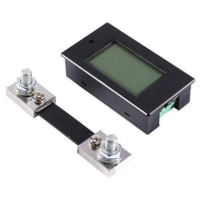 100A DC LCD Power Panel Monitor Medidor Potencia Voltímetro Amperímetro + SHUNT