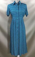 Vintage 50's Look Karin Stevens Petites Short Sleeve Button Down Dress Size 4
