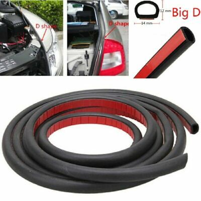 10.5FT D-Shape Rubber Weather Seal Hollow Universal Car Door Strip Weatherstrip