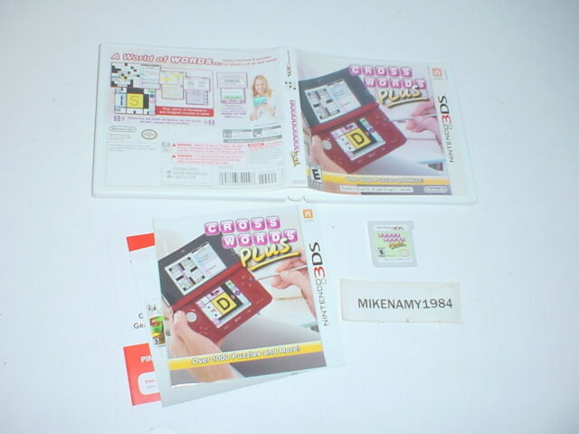CROSSWORDS PLUS game complete in case w/ manual- Nintendo 3DS