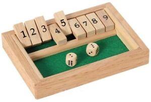 Bois-9-Shut-the-box-Jeu-Mini-Voyage-Set-Drole-Famille-Fete-Board-Jeu
