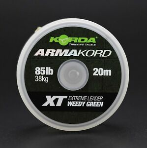Korda-Armakord-XT-20m-85lb-Weedy-Green-Extreme-Leader-Carp-Coarse-Fishing-Line