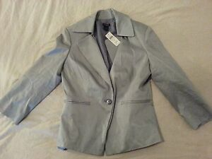 Womens-New-Ann-Taylor-Jacket-Blazer-8-Gray