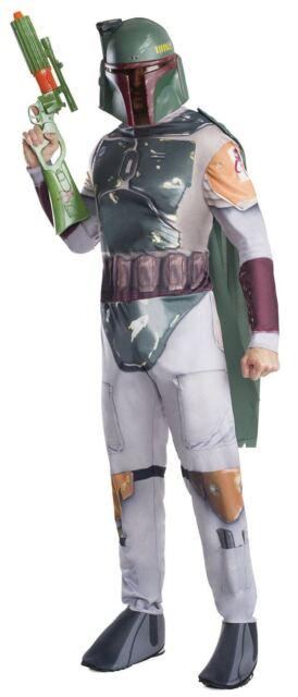 Adult Mens Boba Fett Star Wars Force Awakens Fancy Dress Costume Outfit