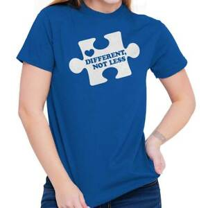 Different Not Less Autism Awareness Support Adult Short Sleeve Crewneck Tee