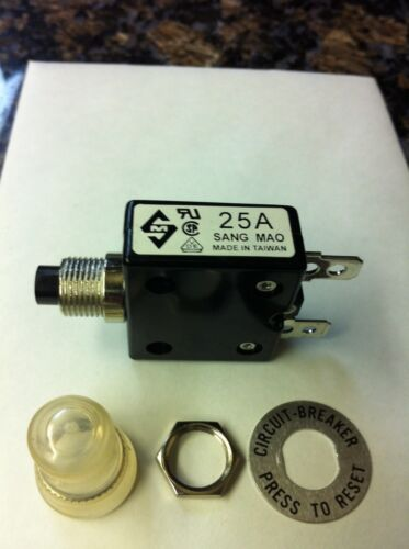 weather boot Sang Mao 25A push to reset breaker  A-0701 125//250V AC  50V DC w