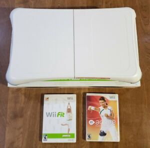 Nintendo-Wii-Fit-Bundle-w-Balance-Board-Wii-Fit-Game-Active-Personal-Trainer