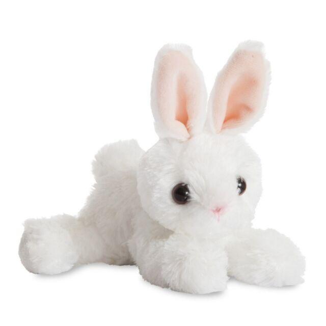 aurora 18cm flopsies plush white bunny rabbit cuddly soft toy teddy
