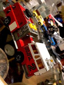 Vintage-MAJORETTE-POMPE-A-INCENDIE-Pumper-Truck-MADE-IN-FRANCE-Fire-Engine