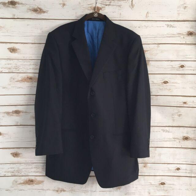 Michael Michael Kors 42R Men's Blue Striped Wool Sport Coat Blazer Jacket 42R