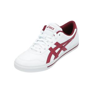 Detalles de Asics AARON Mujer Hombre Zapatillas Deportivas Blanco Baja  Zapatos Sneakers