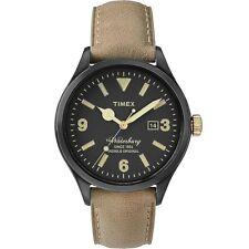 Orologio Timex Watch Man Uhr Pelle Beije Cassa Nera Waterbury TW2P74900 Data New